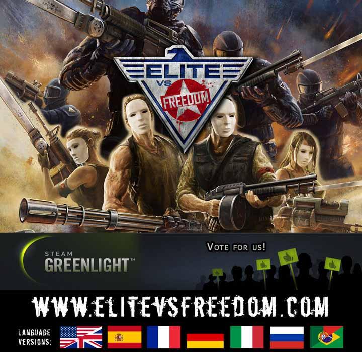 Steam_GreenLight promotion_small | Elite vs. Freedom - шутер для PC, события которого происходят в антиутопичном мире.