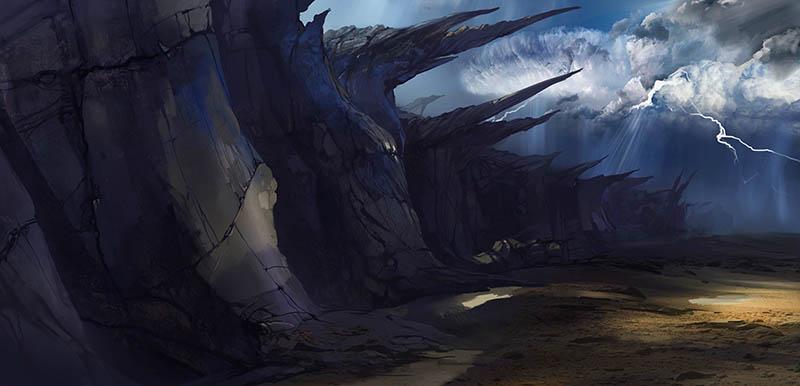 стены плато1 | 2d художник