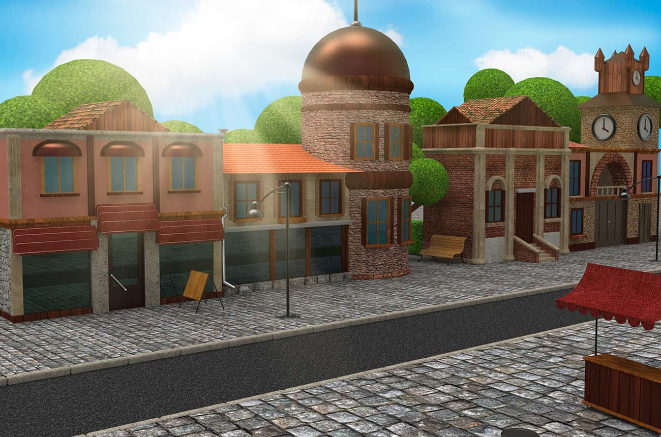 street toon (2)-min | VFX ролики / Катсцены / Анимация / 2D-3D