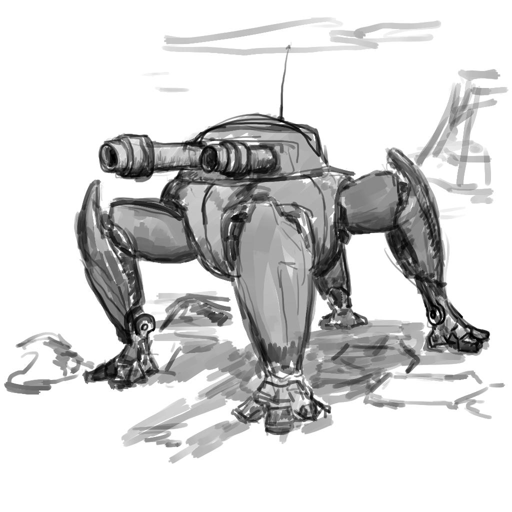 тетрапод | Экспериментальная sci-fi RTS (переименовано)
