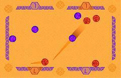 Gameplay (El Zengo 1.0, purple vs red)
