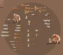 weapons pixelart