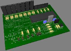 3D макет платы 2