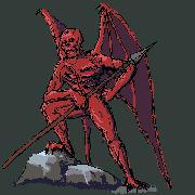 Демон с копьем. Эскиз.