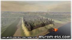 Муромская крепость с высоты птичьего полета.