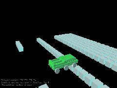 Отображение машинки (бронетранспортер) с псевдо-тенями.