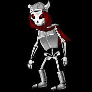 Мощный скелет враг