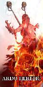 Горящий в пламени праведного гнева еретик