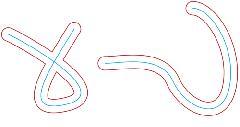 C# Смещенная кривая