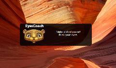 EyeCoach, mini-pause window screenshot