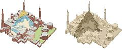 Собор, изометрическая иллюстрация в векторе