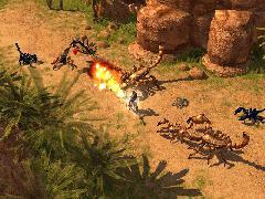 Пример смешивания текстур ландшафта в Titan Quest.
