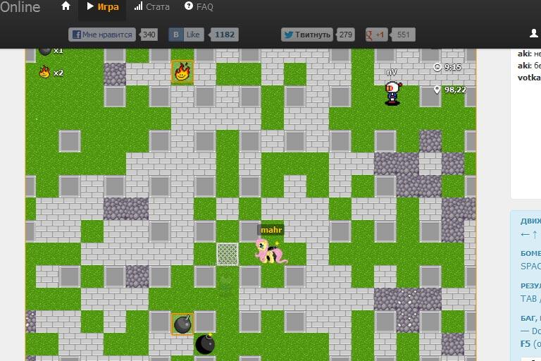 бомбермэн | HTML5 Mass Multiplayer Bombermine (350 players под хабраэффектом)
