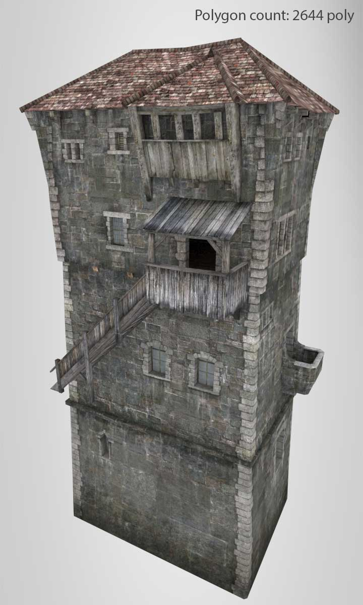 Tower_02_01_low | 3D Artist