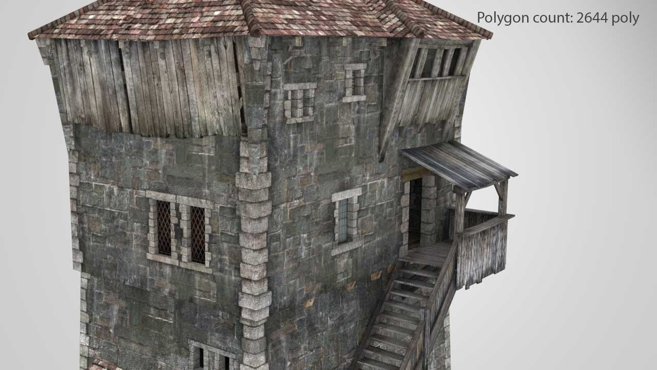 Tower_02_02_low | 3D Artist