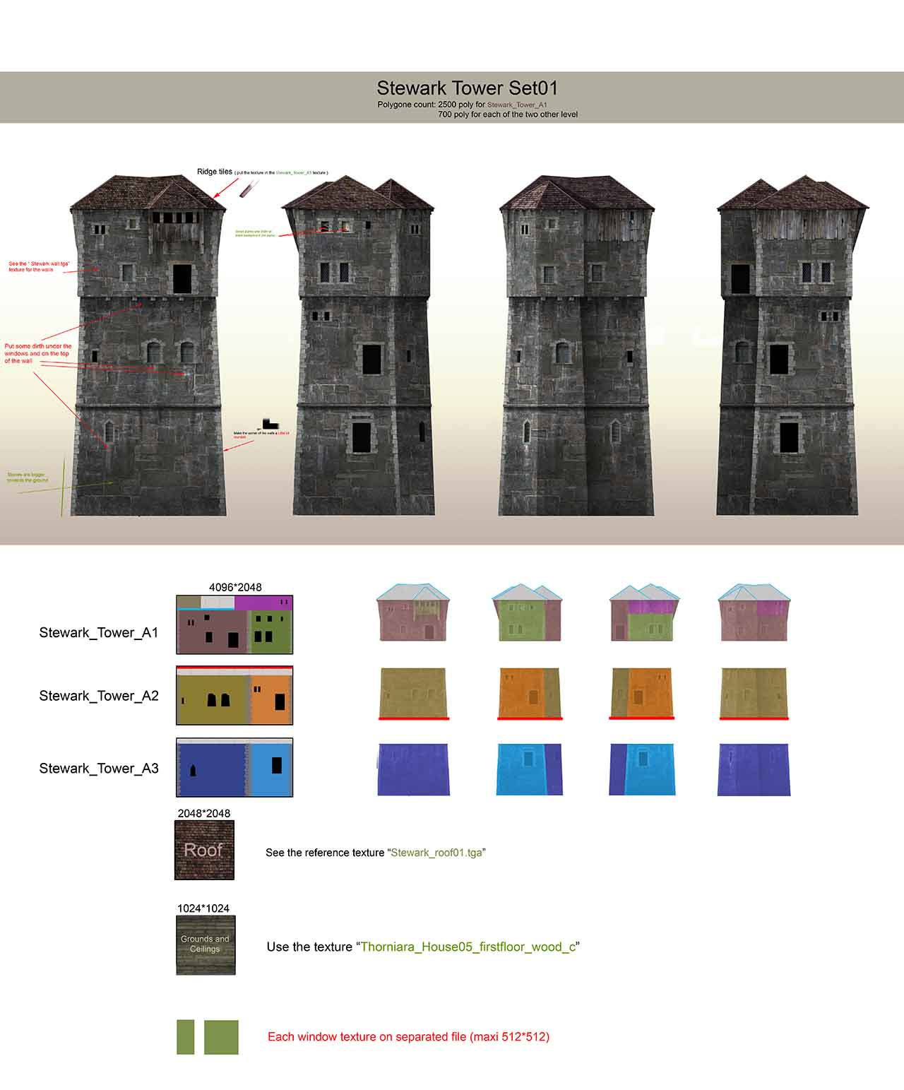 Tower_02_03_low | 3D Artist