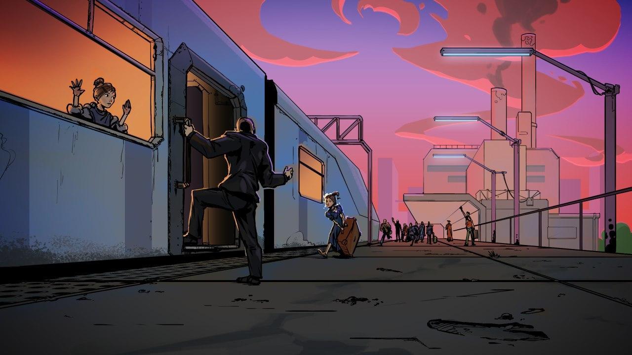 TrainOfHope_projectScreen 1 | Ищем в команду 2d-художника для создания комикса с эффектом параллакс для игры