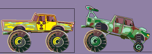 Monster Cars | 16*16, 32*32, 64*64