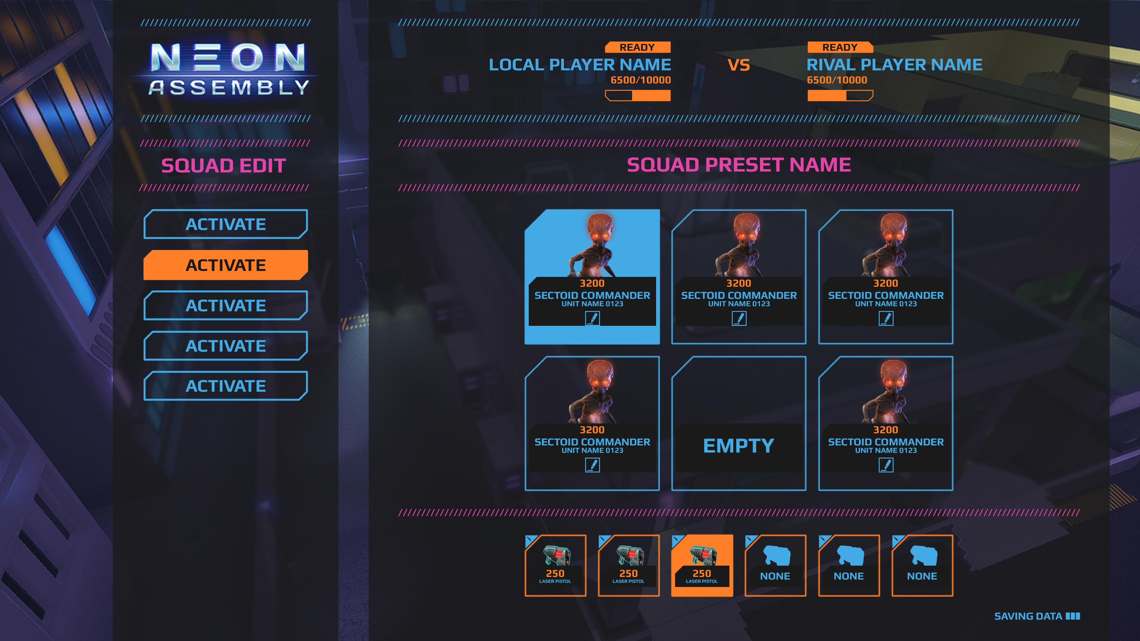 UI_Menus_lobby | NEON ASSEMBLY. A competetive multiplayer turn based tactics game. [ Demo Finished. Билд в теме ]
