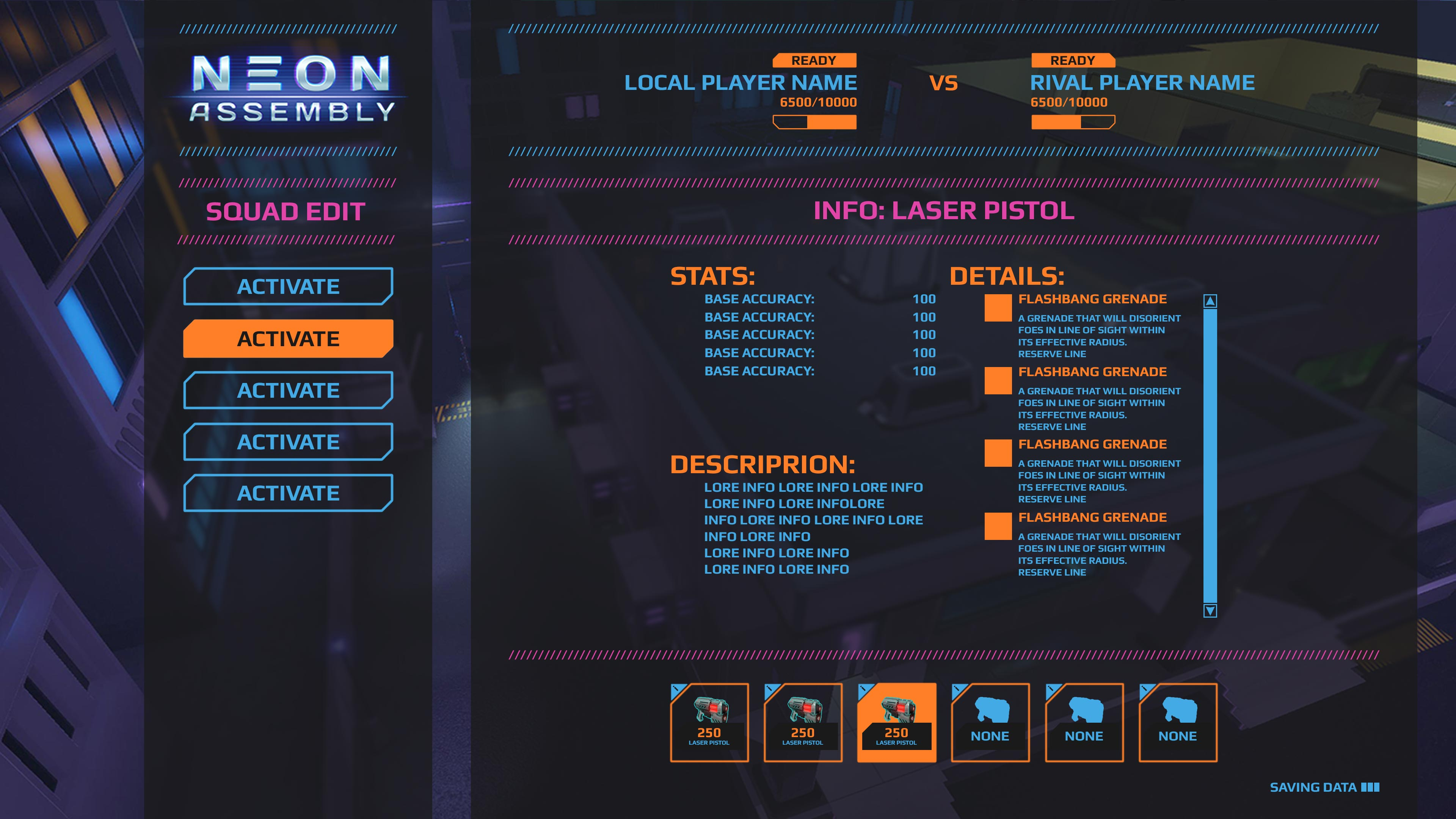 UI_Menus_lobby_itemInfo | NEON ASSEMBLY. A competetive multiplayer turn based tactics game. [ Demo Finished. Билд в теме ]