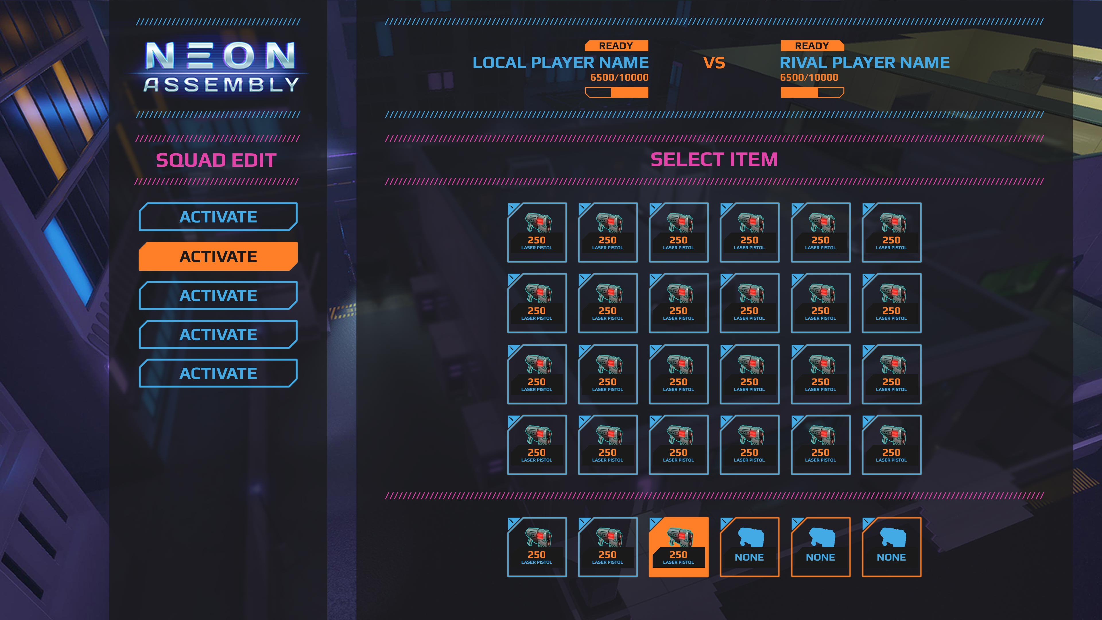 UI_Menus_lobby_select | NEON ASSEMBLY. A competetive multiplayer turn based tactics game. [ Demo Finished. Билд в теме ]