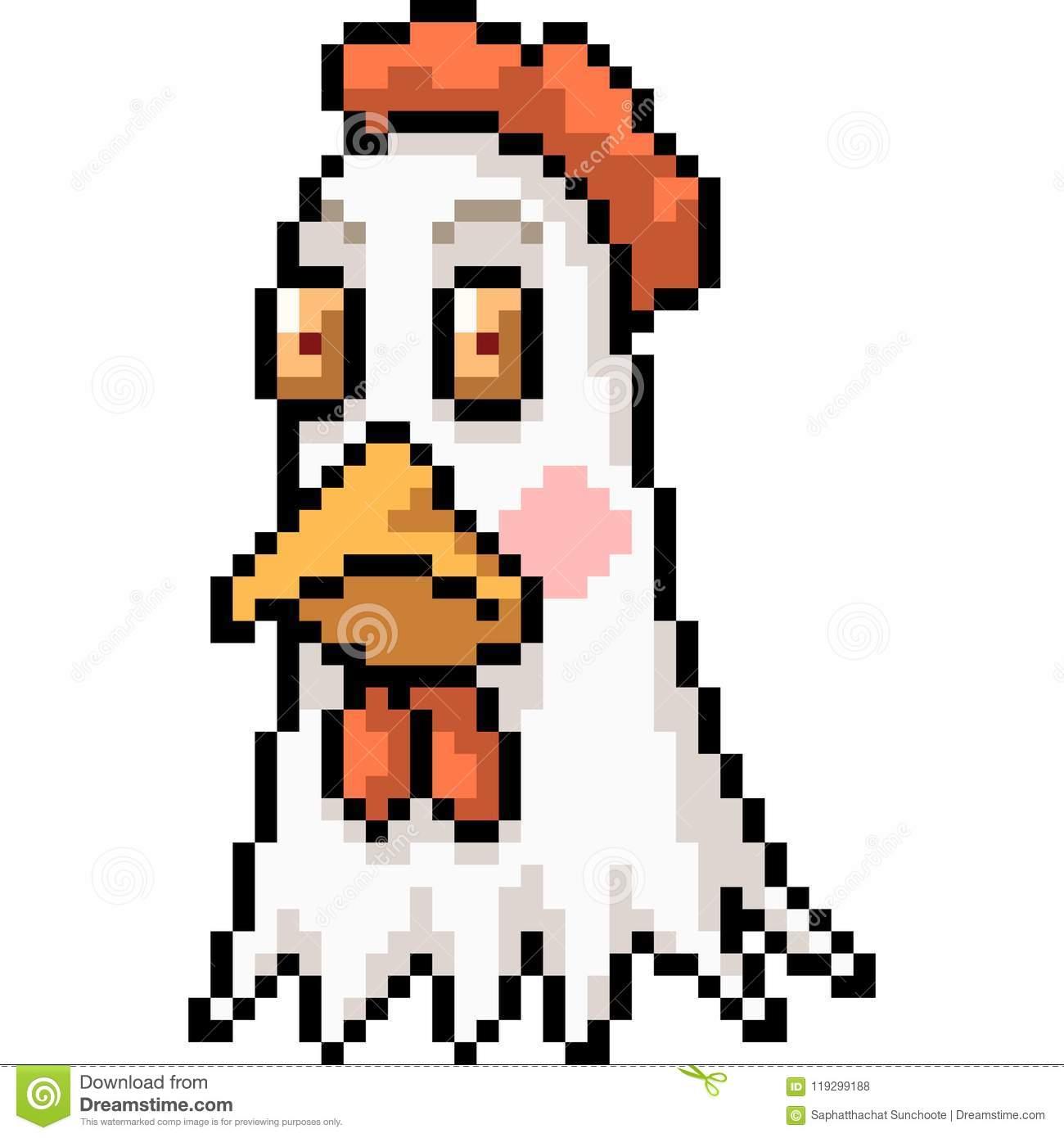vector-pixel-art-chicken-head-vector-pixel-art-chicken-head-isolated-cartoon-119299188 | Несколько картинок в Пиксель Арте