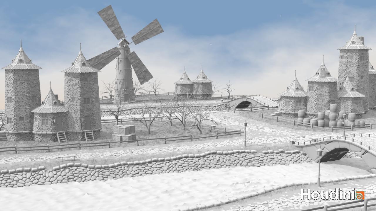 Procedural Landscape | Houdini technical artist / 3D modeller