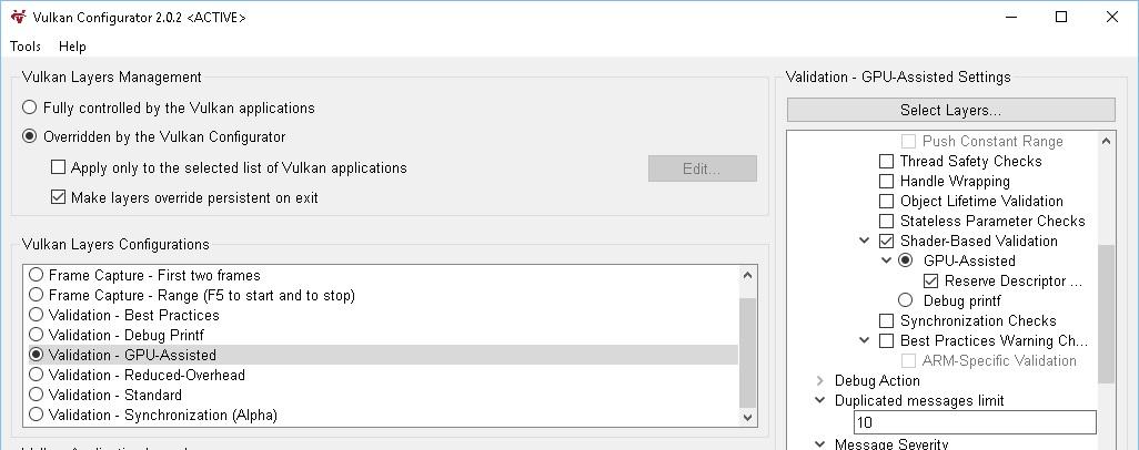 Vulkan Config: Shader Based Validation | Vulkan API (вышел!)