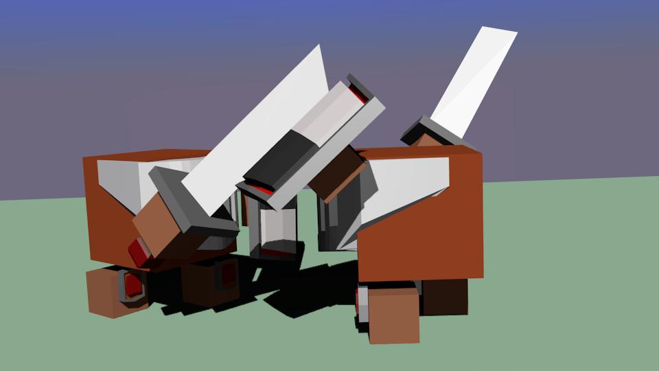 war-chit-mech-dvoe | Простые модельки из нескольких кубиков