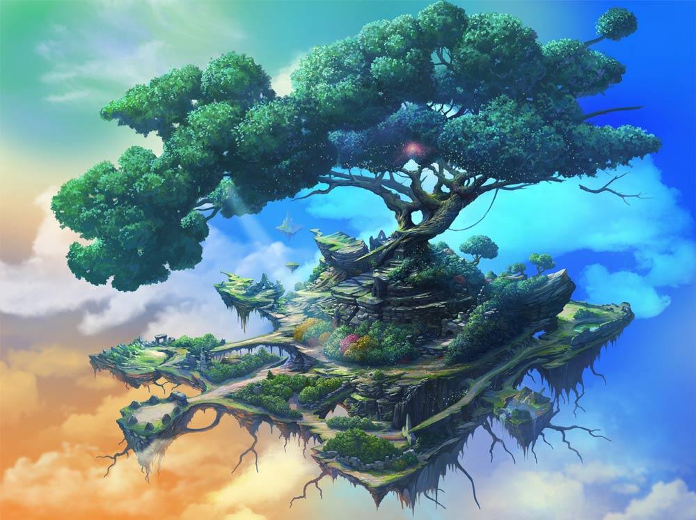 Картинки летающие деревья