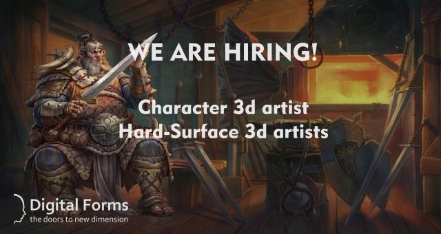 1 | Открыты вакансии Hard surface 3D artist/Character 3D artist  (г. Санкт-Петербург)