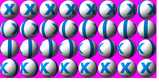 пример spritesheet | Отрендерить реалистичные шары для бильярда