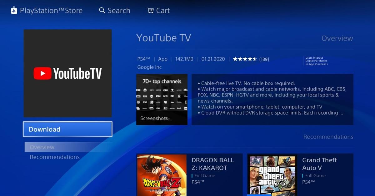 YouTube-TV-on-PS4 | YouTube TV выходит на PS4.