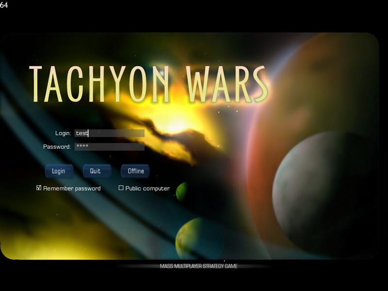 Заставка | Tachyon Wars (MMO Space Strategy)