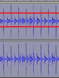 zvuk | Audacity как понизить высокие пики амплитуды звука ?